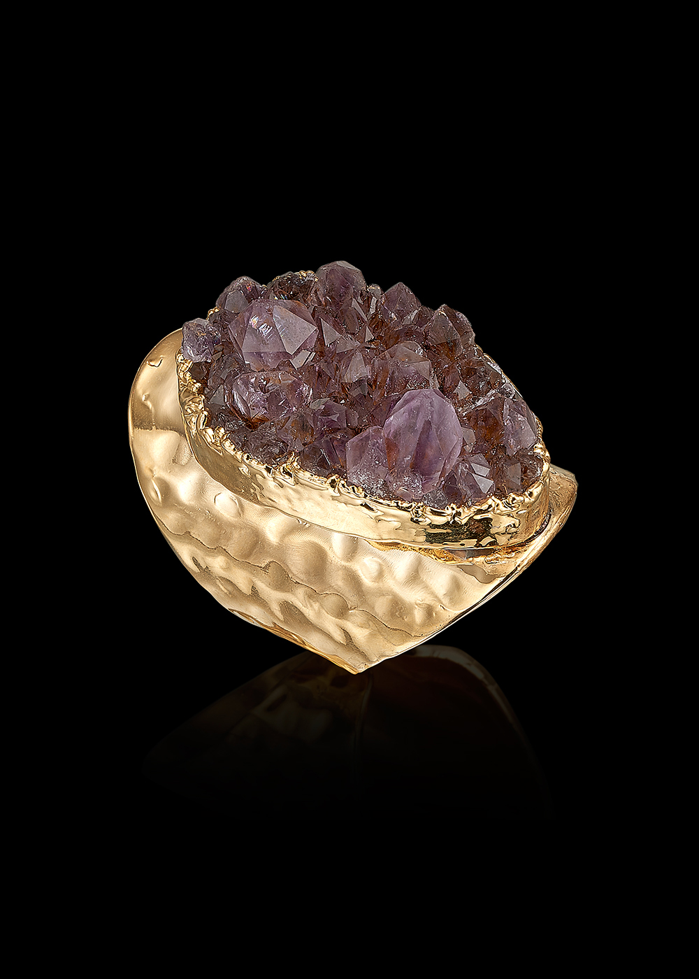 ALBA ring with Amethyst