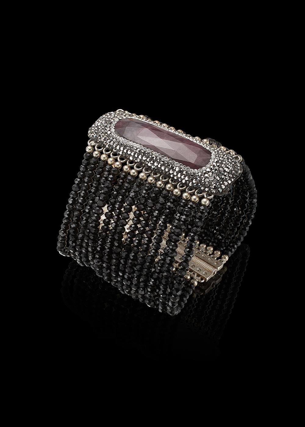 TACOMA bracelet with Tourmaline and Swarowski Crystals